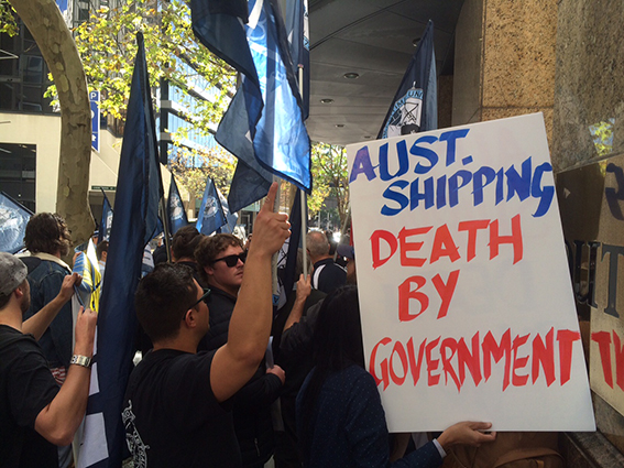 Maritime Union of Australia protest
